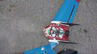RC plane crashed into windshield