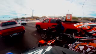 Gun Pulled On Motorcyclist - Video