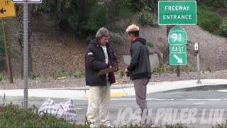 Inspirational Moment When Homeless Man Spends $100 - Video