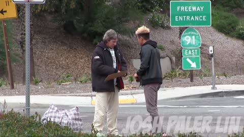 Inspirational Moment When Homeless Man Spends $100