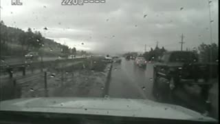 Utah Trooper survives terrifying crash caught on dash cam - Video