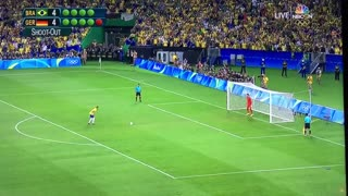 Neymar goal (penalty) vs Germany - Video
