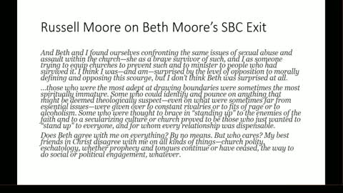Russell Moore and David French React to Beth Moore Leaving the SBC
