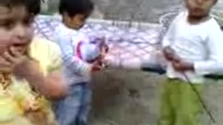 Children Playing, eating, talking  - Video