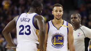 Steph Curry Matches Jazz Starting Lineup in Points, Draymond Green Can't Find Anyone to Kick - Video