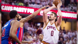 Kevin Love Gets DRILLED in the Face by Basketball During Pre-Game Warmups - Video