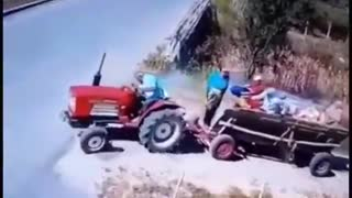 How lucky that tractor driver !!!