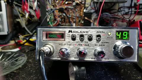 Homemade preamp in a midland 5001z