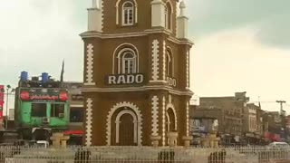 After Raining Clock tower of Sialkot is washed  - Video