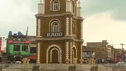 After Raining Clock tower of Sialkot is washed