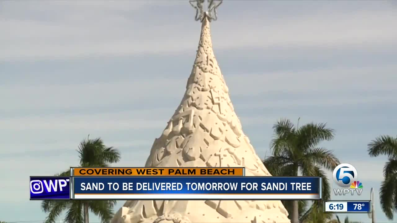 Sandi Tree's sand to be delivered in West Palm Beach starting Tuesday