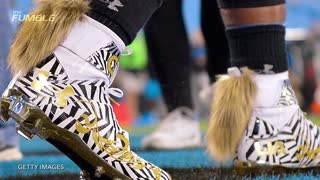 Cam Newton's Cleats Have Tails..WTF - Video