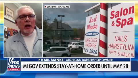 Michigan barber shop reopened in defiance of state order