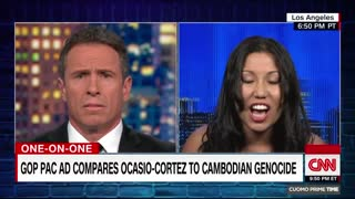 CNN's Chris Cuomo clashes with Elizabeth Heng over AOC ad