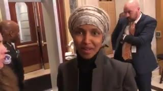 Rep. Ilhan Omar responds, sort of, to question about her anti-Semitic comments