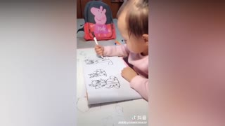 Baby with amazing drawing skills