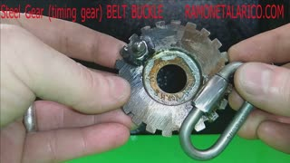 Steel gear belt buckle RT ARTISAN WORKS