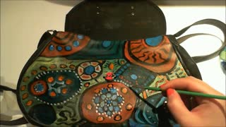 DIY Painted Purse Tutorial - Video