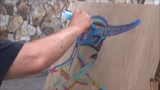 Time Lapse Painting 7 Carl Quintiliani 3d Fantasy Street Art Master - Video
