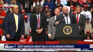 UFC President Dana White speaks at Trump rally