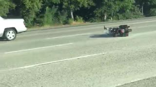 Man Falls Off Motorcycle - Video
