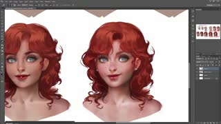 Photoshop Secret : Digital Painting Picture Part 3 - Video