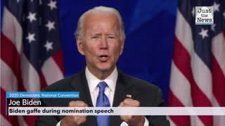 Joe Biden gaffe during nomination acceptance speech