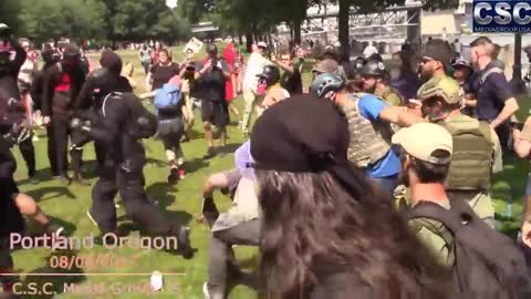 Best Of 2017 - The Best Patriot Vs AntiFa Brawls In The Pacific NW