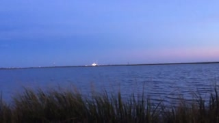 Antares Rocket Explosion from 2 miles away  - Video