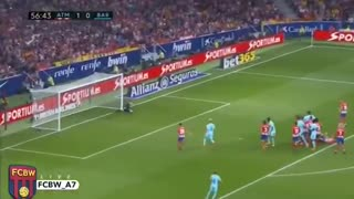 El tiro libre del Leo Messi vs Atletico Madrid - Video