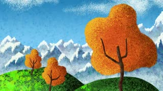 Fall Landscape Illustration