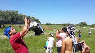 Crash at Copa Maxi Rally in Argentina - Video