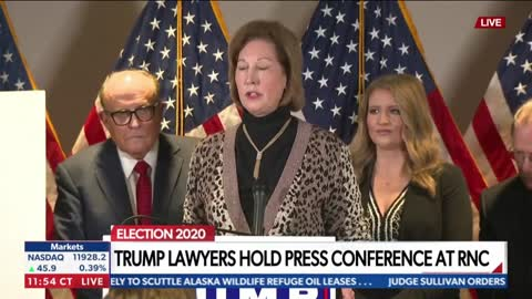 2020 NOV 20 TRUMP LEGAL; Giuliani and Powell lay out latest voter (cheating) and irregularities