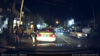 Pedestrian and Cyclist Collide - Video