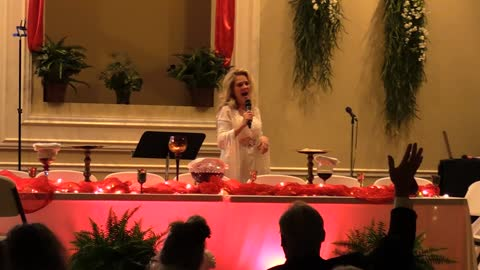 "Mrs Toto Singing LIVE AT PASSOVER ""The Blood Will Never Lose Its Power"""