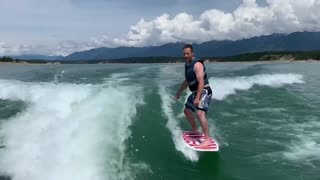 First time surfing!