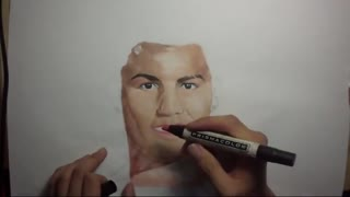 Drawing Cristiano Ronaldo - Video