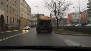 Typical idiot on Polish roads - Video