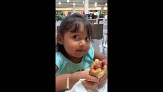 Little girl adorably critiques a sandwich