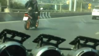 Batman Rides Through Bangkok - Video