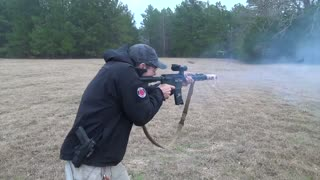 """Cooking Bacon on a Suppressed M16 """"Gun Grill"""""""