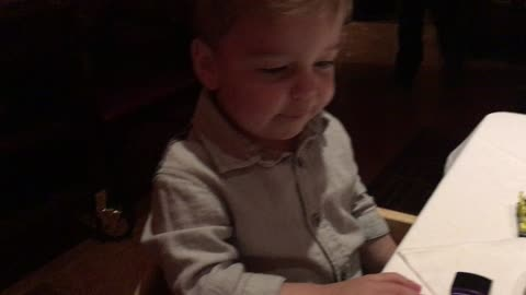 Toddler saying Grace will brighten your day
