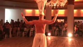 wedding with artistic dance  - Video