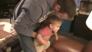 Little Boy Shakes Head At Mounted Deer On Wall - Video