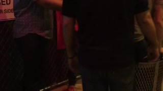 Guy successfully jumps into trashcan and wins money