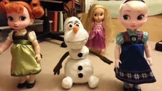 Disney's Frozen: Elsa, Anna, and Olaf figures
