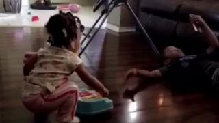 Little Girl Isn't Having It With Her Big Brother - Video
