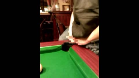 Drunk Guy Gets his Balls Snookered