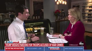Buttigieg responds to Trump possibly giving pardons to soldiers