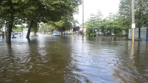 Flash flood aftermath in Babylon, New York
